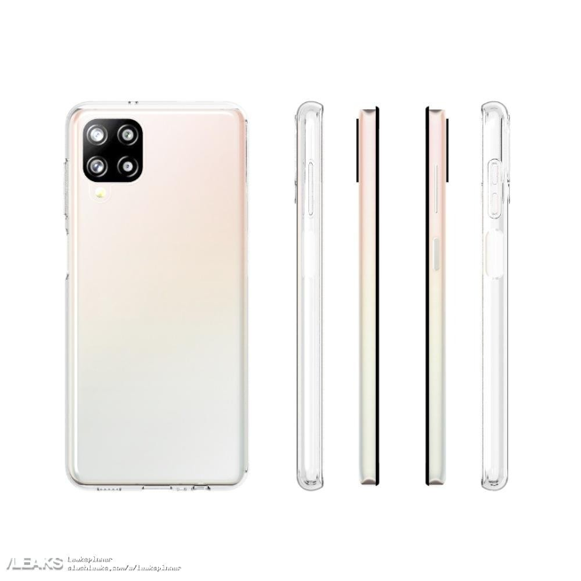 Samsung Galaxy A12 case renders