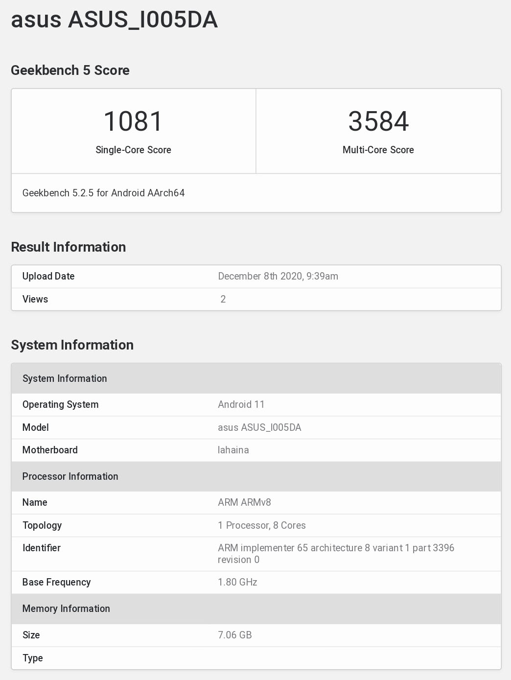 Asus ROG 4 (ASUS_I005DA) spotted on Geekbench