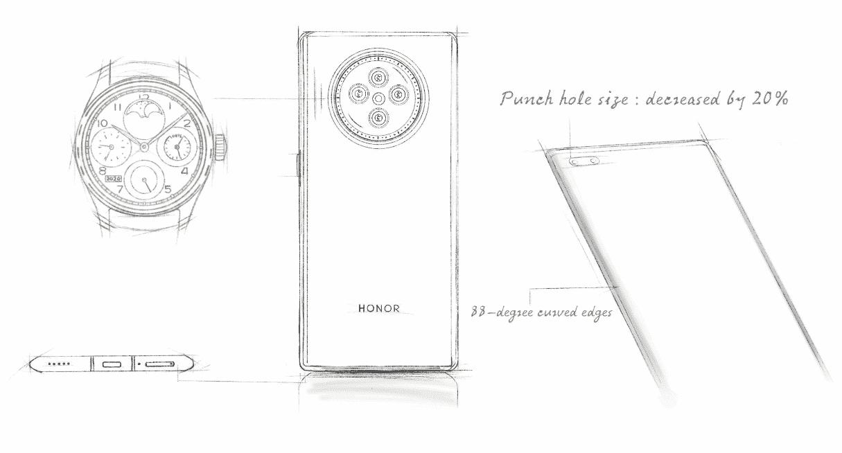 Honor V40 sketch