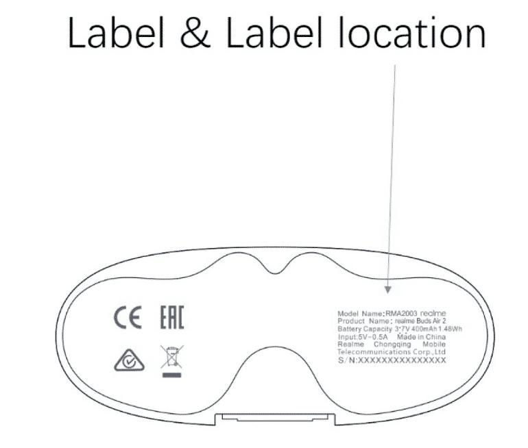 Realme Buds Air 2 case design