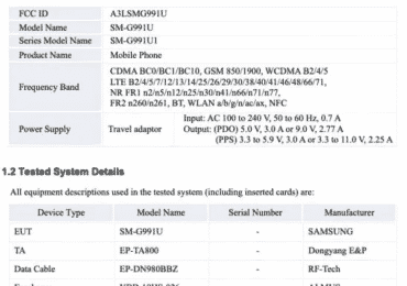 Samsung Galaxy S21 FCC details(2)