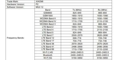 Xiaomi Mi 11 Lite FCC